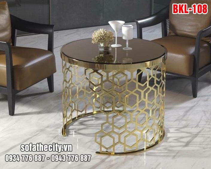 Bàn Sofa Mạ Vàng Cao Cấp BKL 108 Rất Phù Hợp Để Ở Phòng Khách
