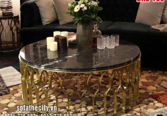 Bàn Sofa Inox Mạ Vàng Cực Đẹp