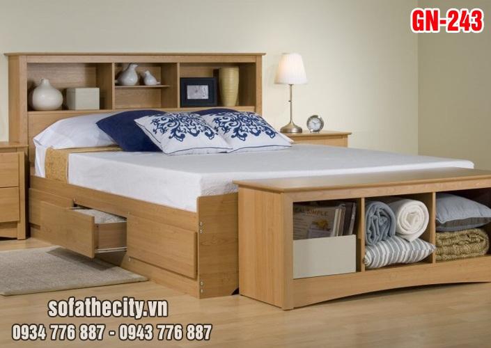 Giường Ngủ Kiểu Nhật Hiện Đại - GN243