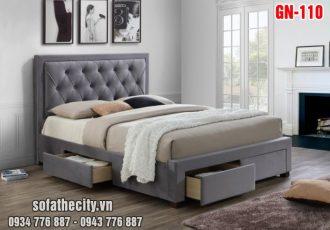 Giường Ngủ Ốp Nệm Cao Cấp GN110