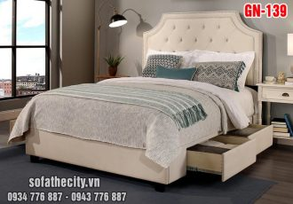 Giường Ngủ Ốp Nệm Cao Cấp - GN139