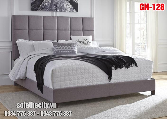 Giường Ngủ Ốp Nệm Cao Cấp - GN128