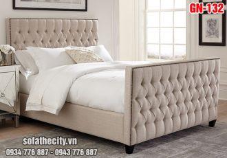 Giường Ngủ Ốp Nệm Cao Cấp - GN132