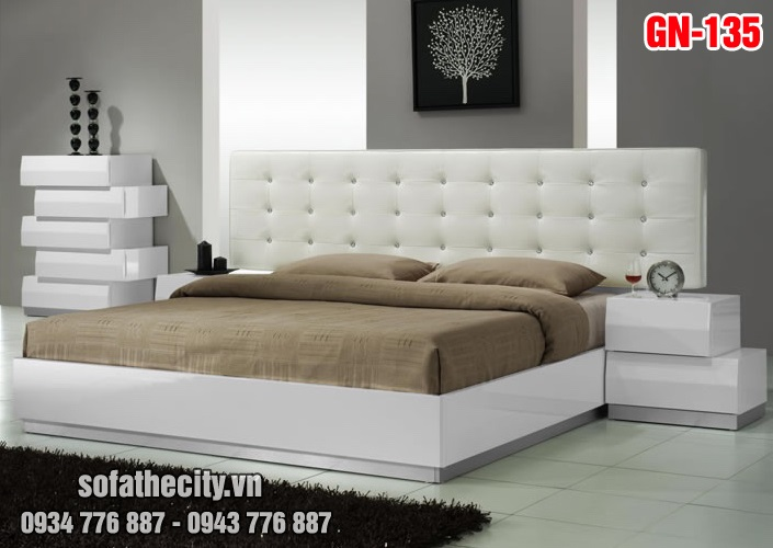 Giường Ngủ Ốp Nệm Cao Cấp - GN135