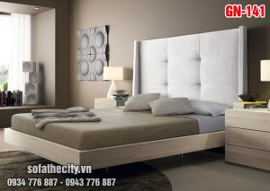 Giường Ngủ Ốp Nệm Cao Cấp - GN136