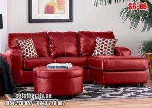 Sofa GócNhỏ XinhMàu Đỏ