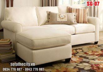 Sofa Góc Cao CấpMàu Kem