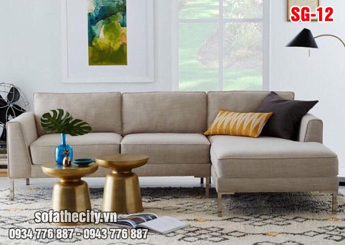 Sofa GócL Vải Bố Màu Kem SG 12