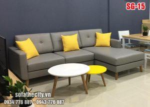 Sofa GócL Vải Bố Màu Kem