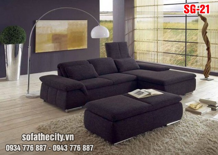Sofa Góc Vải Nỉ Cực Sang