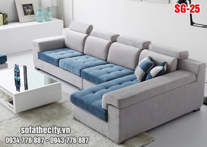 Sofa Góc Vải Nhung Đẹp