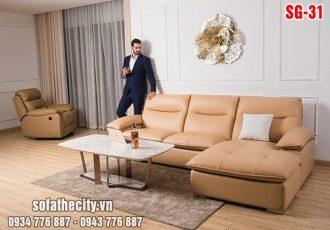 Sofa phòng khách da hàn quốc