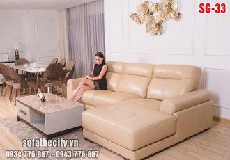 Sofa phòng khách da hàn quốc sang trọng