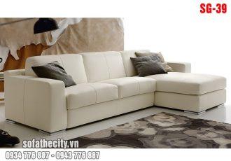 Sofa góc nhỏ màu trắng