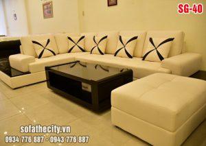 Sofa Phòng Khách Màu Kem