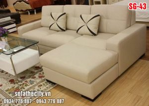 Sofa góc giả da cao cấp nhập khẩu