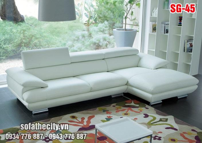 Sofa Góc Cao Cấp Màu Trắng Tinh Khôi