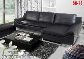 Sofa Góc Cao Cấp Màu Đen Cực Đẹp