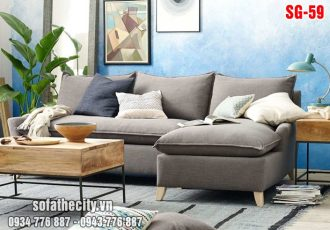 Sofa GócL Vải Bố Màu Xám