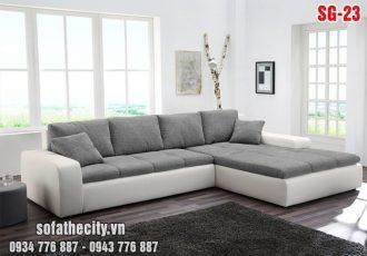 Sofa Phòng Khách Hiện Đại Da Phối Vải