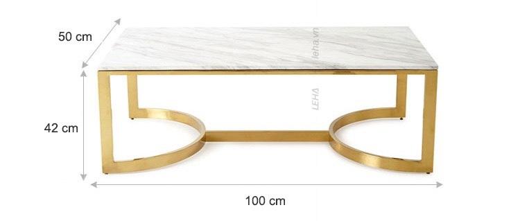 bàn kim loại mặt đá