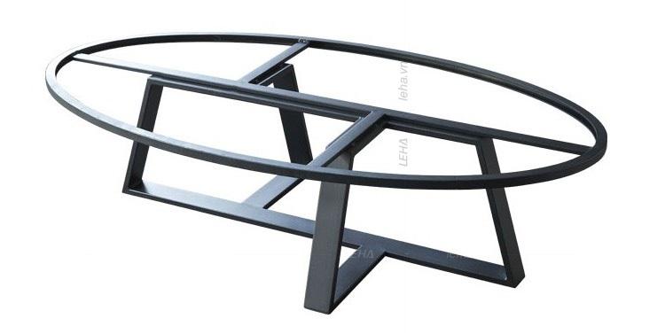 Bàn Sofa Chân Inox Mặt Đá Oval Sáng Tạo – BKL 120